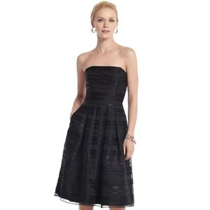 White House Black Market Strapless Organza Dress 0